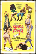 "Movie Posters:Sexploitation, Girl Fever (General Screen Corp., 1960). One Sheet (27"" X 41"").Sexploitation.. ..."