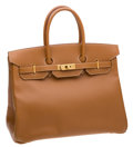 Luxury Accessories:Bags, Hermes 35cm Gold Epsom Leather Birkin Bag with Gold Hardware. ...