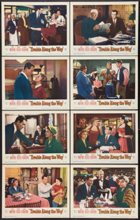 """Trouble Along the Way (Warner Brothers, 1953). Lobby Card Set of 8 (11"""" X 14""""). Drama. ... (Total: 8 Items)"""