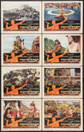 "Movie Posters:Action, The Conqueror (RKO, 1956). Lobby Card Set of 8 (11"" X 14"").Action.. ... (Total: 8 Items)"