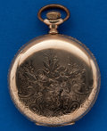 Timepieces:Pocket (post 1900), Waltham 15 Jewel, 6 Size Hunters Case. ...