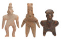 Antiques:Antiquities, Three Colima Miniature Figures... (Total: 3 Items)