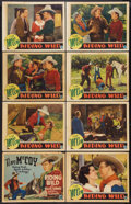 "Movie Posters:Western, Riding Wild (Columbia, 1935). Lobby Card Set of 8 (11"" X 14""). Western.. ... (Total: 8 Items)"