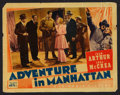 """Movie Posters:Comedy, Adventure in Manhattan (Columbia, 1936). Lobby Card (11"""" X 14""""). Comedy.. ..."""