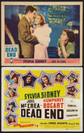 """Movie Posters:Crime, Dead End (United Artists and Film Classics, 1937 and R-1944). TitleLobby Card and Lobby Card (11"""" X 14""""). Crime.. ... (Total: 2 Items)"""
