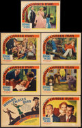 """Movie Posters:Comedy, Woman Chases Man (United Artists, 1937). Title Lobby Card and Lobby Cards (6) (11"""" X 14"""" and 10.5"""" X 13.5""""). Comedy.. ... (Total: 7 Items)"""