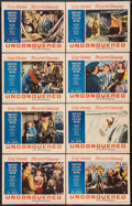 "Movie Posters:Adventure, Unconquered (Paramount, R-1955). Lobby Card Set of 8 (11"" X 14"").Adventure.. ... (Total: 8 Items)"