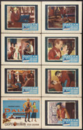 """Movie Posters:Western, Dallas (Warner Brothers, 1950). Lobby Card Set of 8 (11"""" X 14""""). Western.. ... (Total: 8 Items)"""