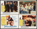 "Movie Posters:Hitchcock, Spellbound (United Artists, 1945 and Selznick, R-1956). Title LobbyCard and Lobby Cards (3) (11"" X 14""). Hitchcock.. ... (Total: 4Items)"