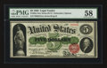 Large Size:Legal Tender Notes, Fr. 63a $5 1863 Legal Tender PMG Choice About Unc 58.. ...