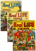 Golden Age (1938-1955):Non-Fiction, Real Life Comics #7, 48, and 55 Group (Nedor Publications, 1942-51)Condition: Average VG+.... (Total: 3 Comic Books)