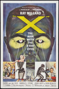"Movie Posters:Science Fiction, X - The Man with the X-Ray Eyes (American International, 1963). OneSheet (27"" X 41""). Science Fiction.. ..."