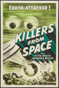 """Movie Posters:Science Fiction, Killers From Space (RKO, 1954). One Sheet (27"""" X 41""""). ScienceFiction.. ..."""
