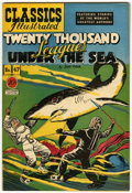 Golden Age (1938-1955):Classics Illustrated, Classics Illustrated #47 Twenty Thousand Leagues Under the Sea - Original Edition (Gilberton, 1948) Condition: VF/NM....