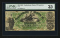 Confederate Notes:1861 Issues, T17 $20 1861 PF-2 Cr. UNL.. ...