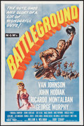 "Movie Posters:War, Battleground (MGM, R-1962). Lobby Card Set of 8 (11"" X 14"") and OneSheet (27"" X 41""). War.. ... (Total: 9 Items)"