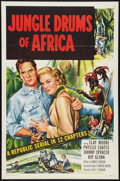"""Movie Posters:Serial, Jungle Drums of Africa (Republic, 1952). One Sheet (27"""" X 41"""").Serial.. ..."""