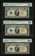 Small Size:World War II Emergency Notes, Fr. 2309 $10 1934A North Africa Silver Certificates. SixConsecutive Examples. PMG Gem Uncirculated 66 EPQ & 65 EPQ..... (Total: 6 notes)