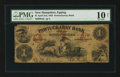 Obsoletes By State:New Hampshire, Epping, NH- Pawtuckaway Bank $1 April 2, 1855 G2c. ...