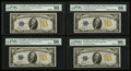 Small Size:World War II Emergency Notes, Fr. 2309 $10 1934A North Africa Silver Certificates. Four Consecutive Examples. PMG Gem Uncirculated 66 EPQ.. ... (Total: 4 notes)