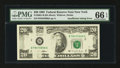Error Notes:Missing Magnetic Ink, Fr. 2081-B $20 1995 Federal Reserve Note. PMG Gem Uncirculated 66EPQ. . ...