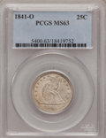 Seated Quarters, 1841-O 25C MS63 PCGS....