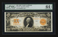 Large Size:Gold Certificates, Fr. 1187 $20 1922 Gold Certificate. PMG Choice Uncirculated 64EPQ.. ...