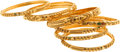 Estate Jewelry:Suites, Enamel, Gold Bracelets. ... (Total: 7 Items)