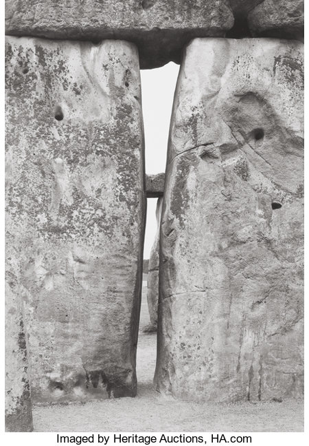 PAUL CAPONIGRO (American, b. 1932) Stonehenge Portfolio (Twelve Photographs), 1967-1972 Gelatin silver, 1987 13-3/8 x... (Total: 13 Items)