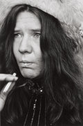 Photographs:Contemporary, LINDA MCCARTNEY (British, 1941-1998). Janis Joplin, circa1968. Gelatin silver, printed later. Paper: 10 x 8 inches (25....