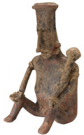 Antiques:Antiquities, Jalisco Seated Male Figure...