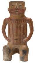 Antiques:Antiquities, Zacatecas Male Seated Figure...