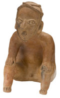 Antiques:Antiquities, Jalisco Male Seated Figure...