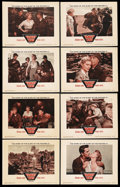 "Movie Posters:War, Target Zero (Warner Brothers, 1955). Lobby Card Set of 8 (11"" X14""). War. ... (Total: 8 Items)"
