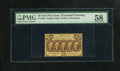 Fractional Currency:First Issue, Fr. 1282 25c First Issue PMG Choice About Unc 58. This is a lovelyexample of the much scarcer straight edge no monogram var...