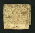 Colonial Notes:Massachusetts, Massachusetts October 18, 1776 2s Very Good. This is a denominationfrom this scarce issue that we have never handled before...