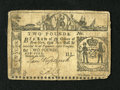 Colonial Notes:New York, New York February 16, 1771 £2 Fine. This scarce note was torn inhalf and then backed....