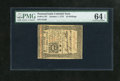 Colonial Notes:Pennsylvania, Pennsylvania October 1, 1773 10s PMG Choice Uncirculated 64EPQ.This is a wonderfully margined and boldly signed example of ...