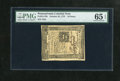 Colonial Notes:Pennsylvania, Pennsylvania October 25, 1775 18d PMG Gem Uncirculated 65EPQ. Thisis one of the nicest examples from this series that you w...
