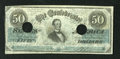 Confederate Notes:1862 Issues, T50 $50 1862. This punch-out-cancelled Criswell 357 has excellentedges with some snap remaining. This note is also free of ...