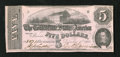Confederate Notes:1862 Issues, T53 $5 1862. This Five gave light service to the Lost Cause.Extremely Fine-About Uncirculated....