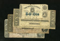 Confederate Notes:1864 Issues, T67 $20; T68 10; $T71 $1 1864. These three notes grade Good-VG or better. Included with this lot is a State of Alabama 5... (Total: 4 notes)