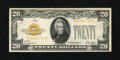 Small Size:Gold Certificates, Fr. 2402 $20 1928 Gold Certificate. Very Fine-Extremely Fine.. Nice yellow-gold ink is found on this mid-grade Gold $20...