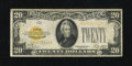 Small Size:Gold Certificates, Fr. 2402 $20 1928 Gold Certificate. Very Good-Fine.. There is a small hole above the portrait, otherwise this $20 Gold is ni...