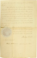 "Autographs:U.S. Presidents, Abraham Lincoln, Manuscript Document Signed ""Abraham Lincoln"" as President, two pages, 10.5"" x 17"", Washington, Febr..."