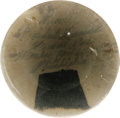 "Political:Miscellaneous Political, Cloth from Abraham Lincoln's Funeral Car preserved in a 3"" diameterglass paperweight. A 1.5"" x 1"" piece of cloth with the h..."