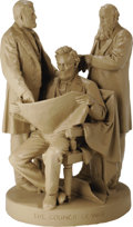 """Political:3D & Other Display (pre-1896), Lincoln, Grant, & Stanton: John Roger's Famous """"Council of War""""Sculpture. One of the most famous and popular nineteenth cen..."""