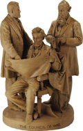 "Political:3D & Other Display (pre-1896), Lincoln, Grant, and Stanton: A Second Roger's ""Council of War"" Sculpture. In this slightly later version, Stanton now cleans..."