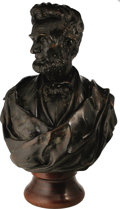 Political:3D & Other Display (pre-1896), Abraham Lincoln: A Massive Bronze Bust Sculpted by Thomas D. Jonesin 1861, and Considered One of the Finest Sculptural Images...