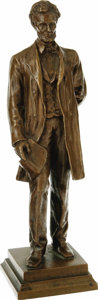Political:3D & Other Display (1896-present), Abraham Lincoln: A Finely Detailed Solid Bronze Statue by GorhamCompany. This vintage figure by the renowned silversmiths i...